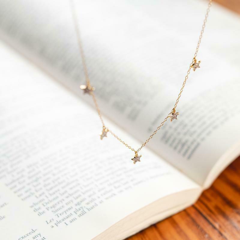Ella Stein Pocket Full of Stars Necklace (Silver)