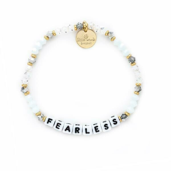 Little Words Project White FEARLESS Bracelet