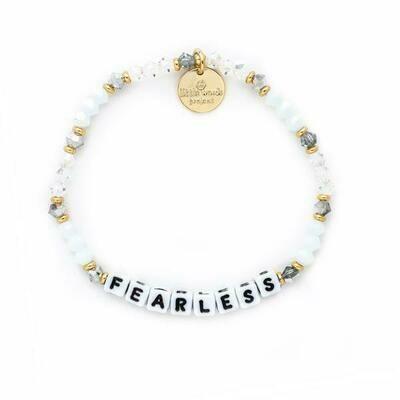 Little Words Project White FEARLESS Bracelet