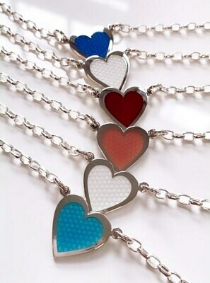 Colby Davis Hearts of Love Necklace, White
