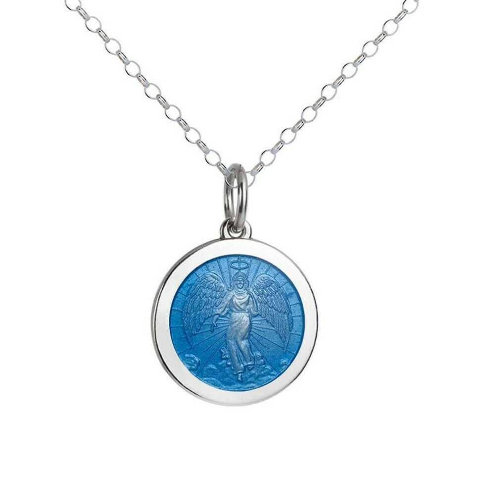 Colby Davis Angel Pendant, Medium/French Blue