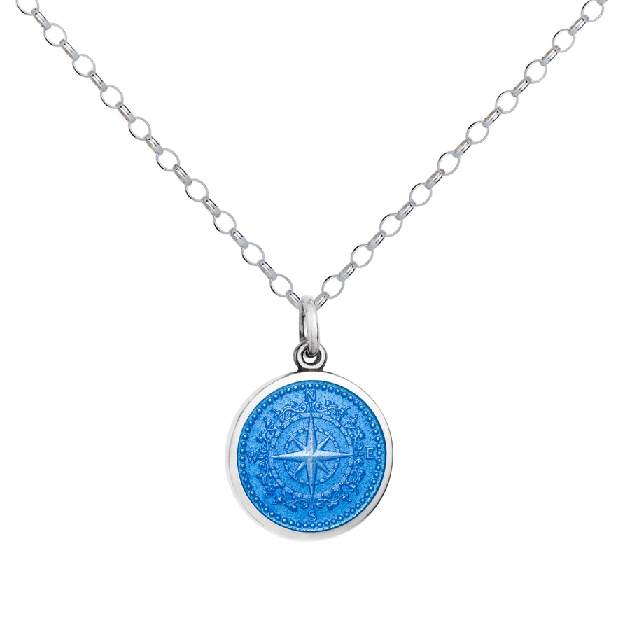 Colby Davis Compass Pendant, Small/French Blue