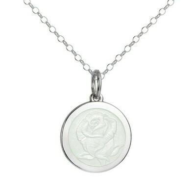 Colby Davis Rose Pendant, Medium/White