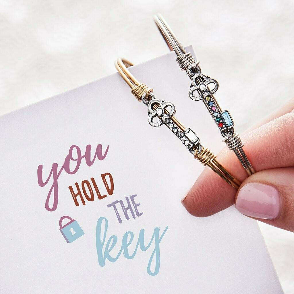 Luca + Danni Key Bracelet in Clear