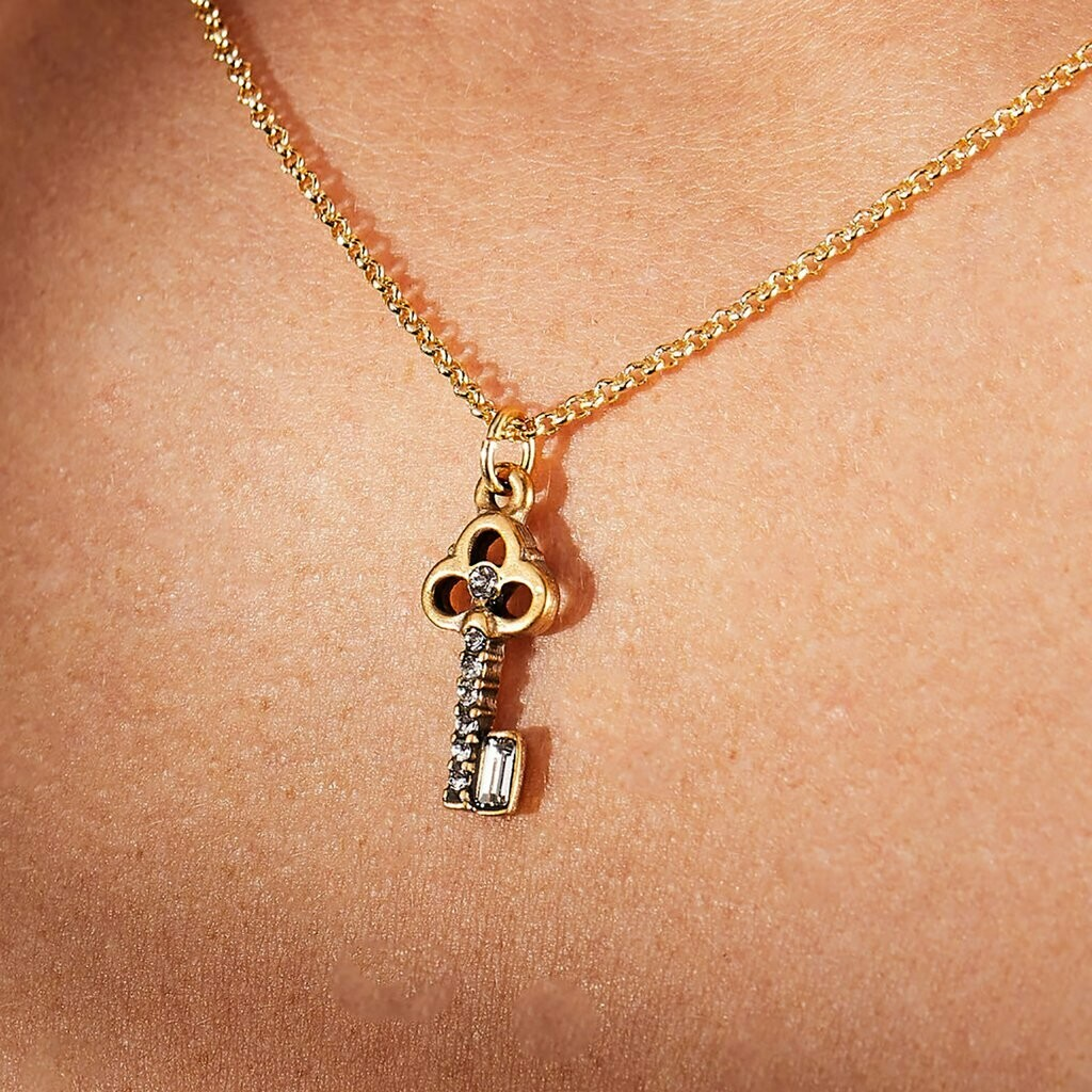 Luca + Danni Key Necklace in Clear