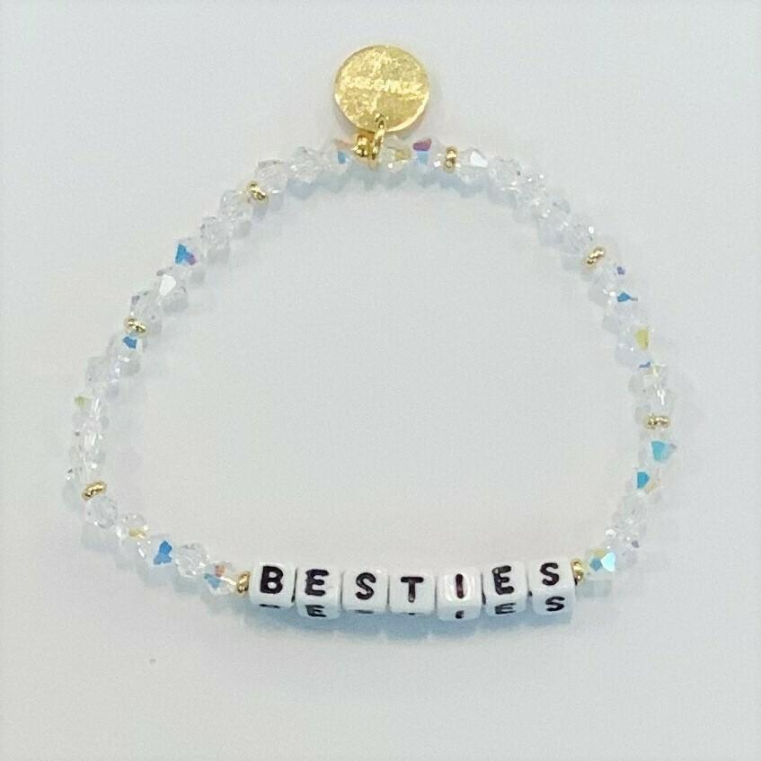 Little Words Project White BESTIES Bracelet