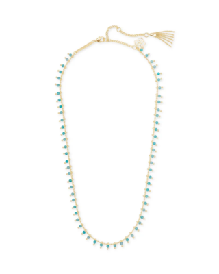 Kendra Scott Jenna Gold Necklace in Teal Amazonite