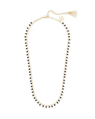 Kendra Scott Jenna Gold Necklace in Black Obsidian