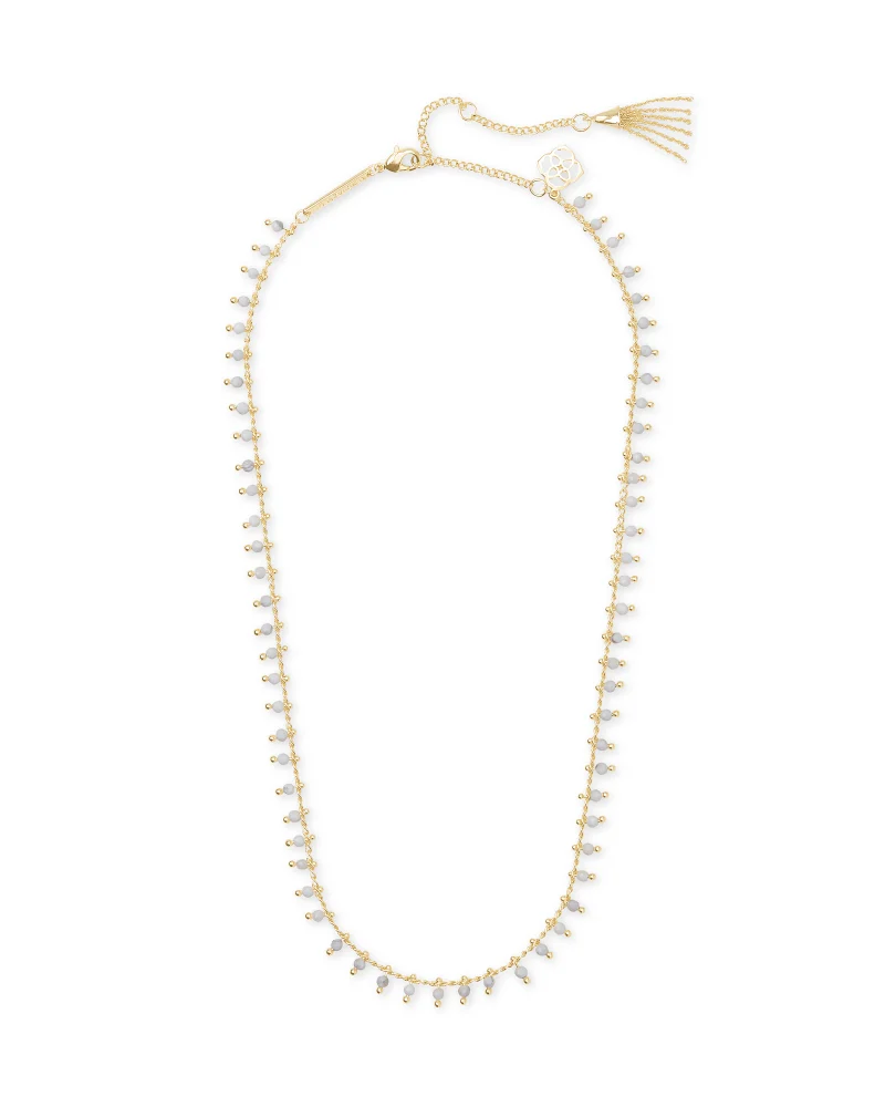 Kendra Scott Jenna Gold Necklace in White Howlite