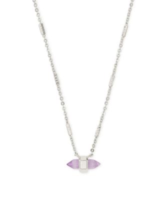 Kendra Scott Jamie Silver Pendant Necklace in Purple Amethyst