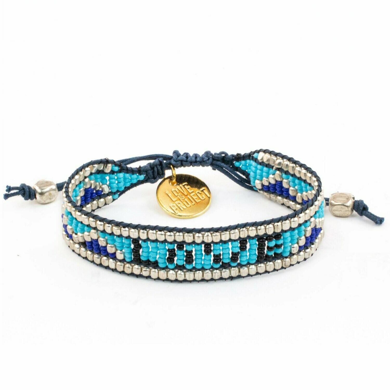 Love is Project Taj Love Bracelet - Blue/Black