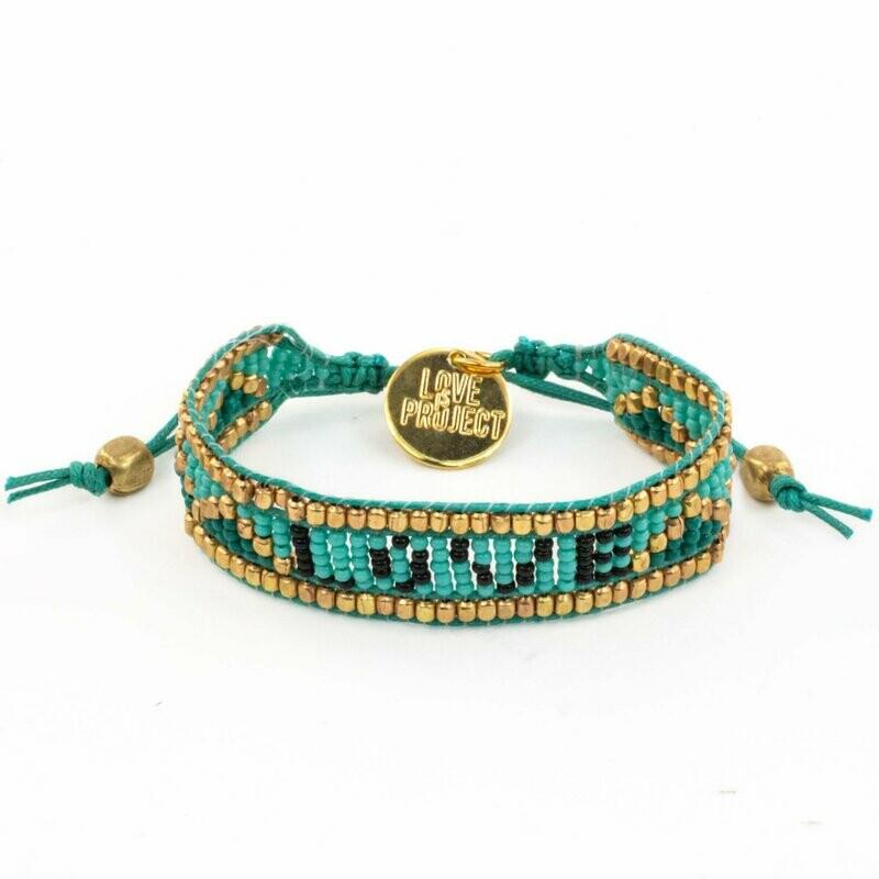Love is Project Taj Love Bracelet - Turquoise/Black