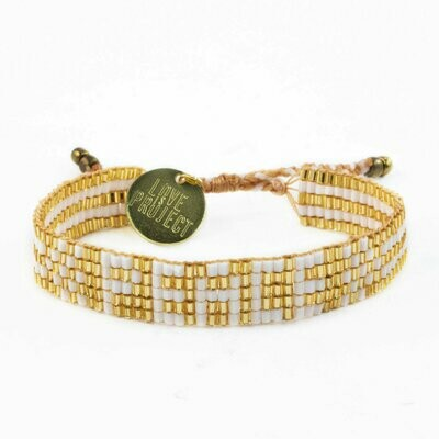 Love is Project Prince of Peace Bracelet - Gold/White