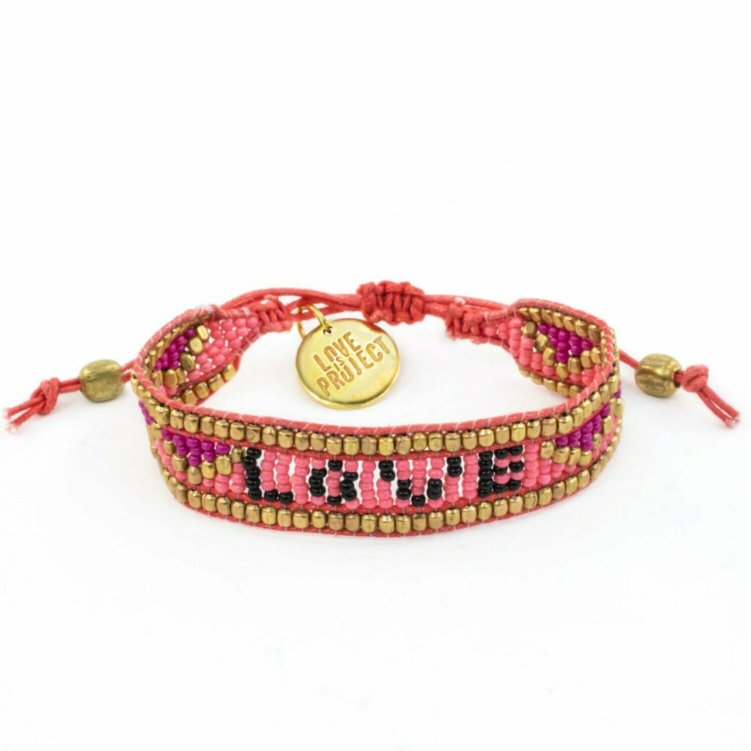 Love is Project Taj Love Bracelet - Pink/Black