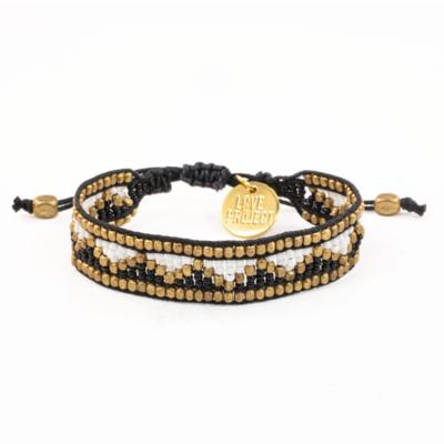 Love is Project Taj Beaded Bracelet - Black/White