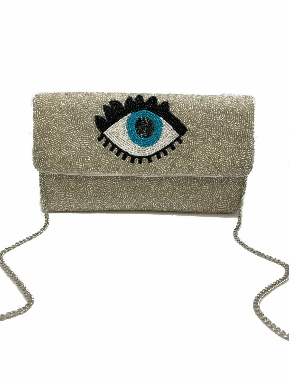 La Chic Evil Eye Beaded Bag