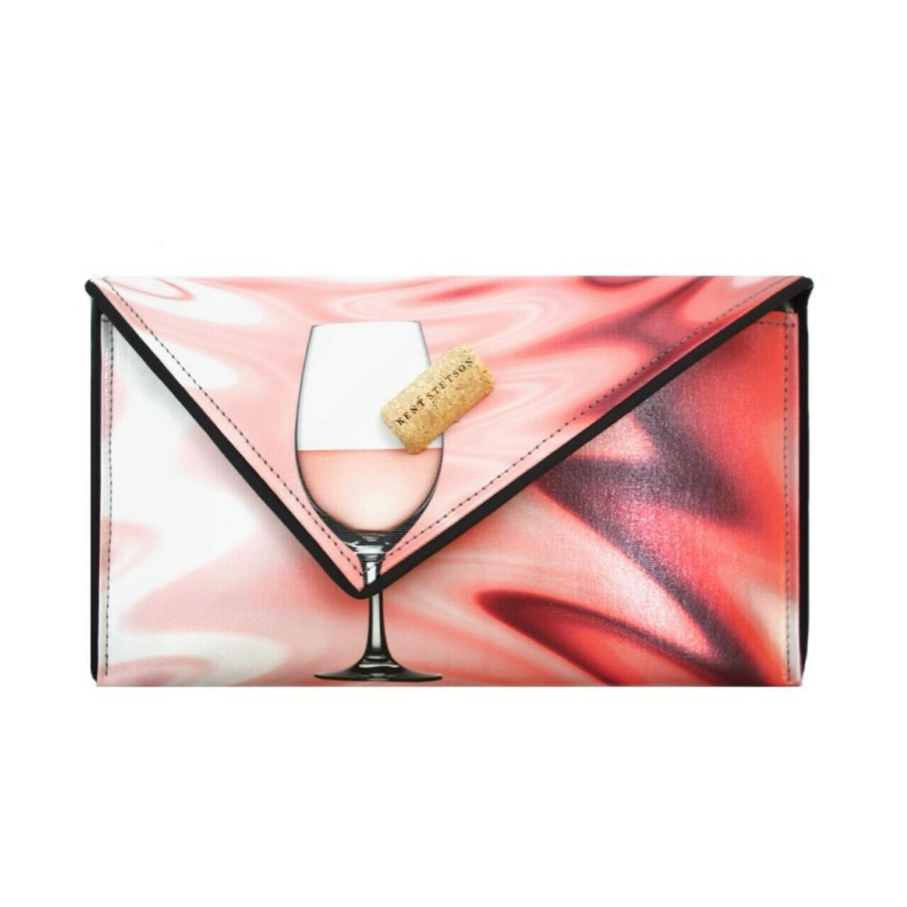 Kent Stetson Rosé Wine Clutch