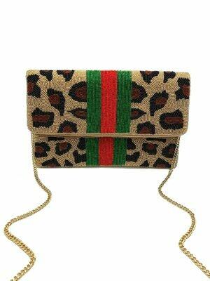La Chic Leopard Print Bag
