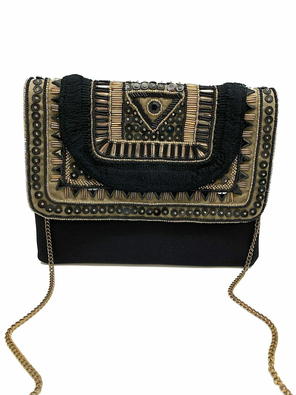 La Chic Black Boho Bag