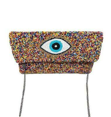 La Chic Multi-Color Evil Eye Bag