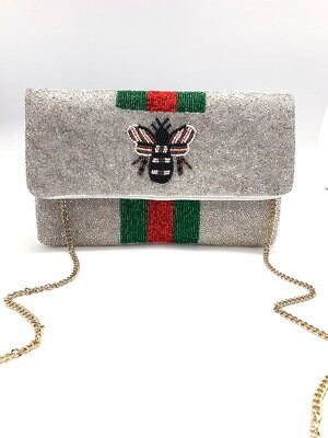 La Chic Bee You Silver Bee Bag