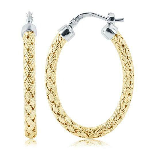 Charles Garnier Milan 3mm Oval Hoop Earrings, Gold