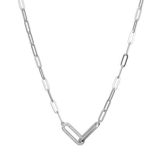 Charles Garnier Paperclip Collection Harper Necklace, Silver