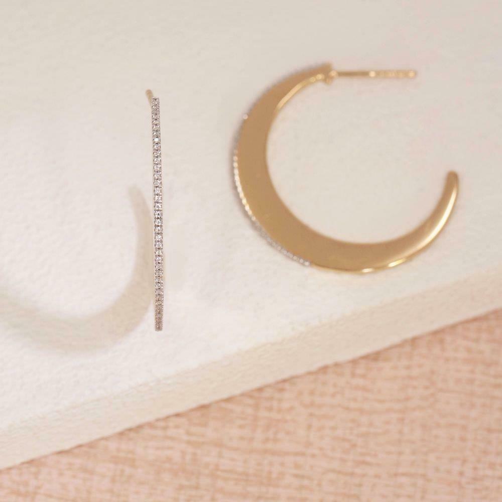 Ella Stein Keep Dreaming Hoop Earrings (Gold)