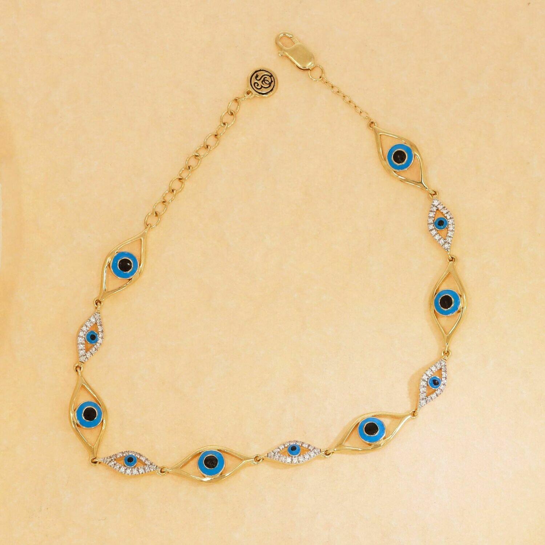 Ella Stein Eye of Protection Bracelet (Gold)