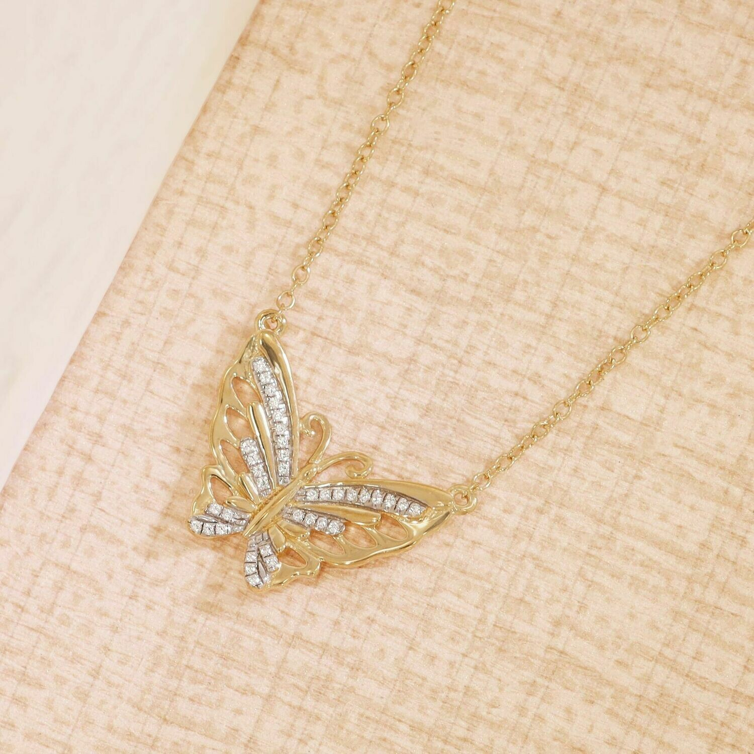 Ella Stein Beautiful Butterfly Necklace (Gold)