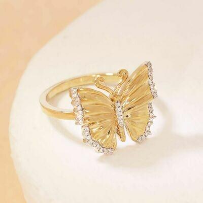 Ella Stein Beautiful Butterfly Ring (Gold)
