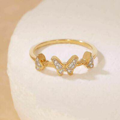 Ella Stein Butterfly Trio Ring (Gold)