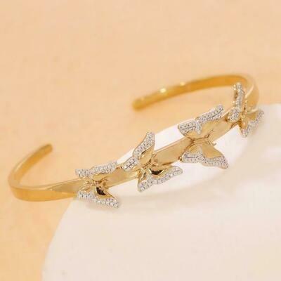 Ella Stein Beautiful Butterfly Cuff (Gold)
