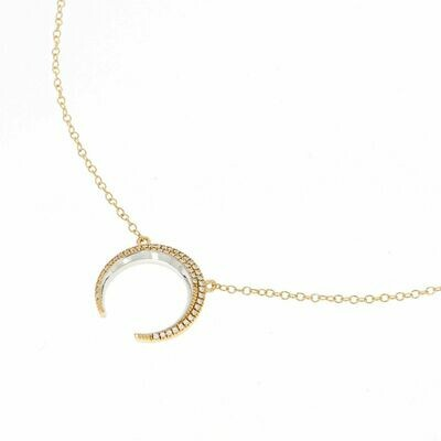 Ella Stein Crescent Horn Necklace (Gold)