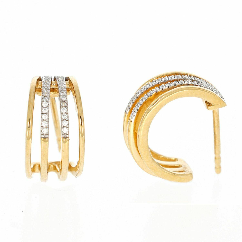Ella Stein Wrap Around Hug Earrings (Gold)