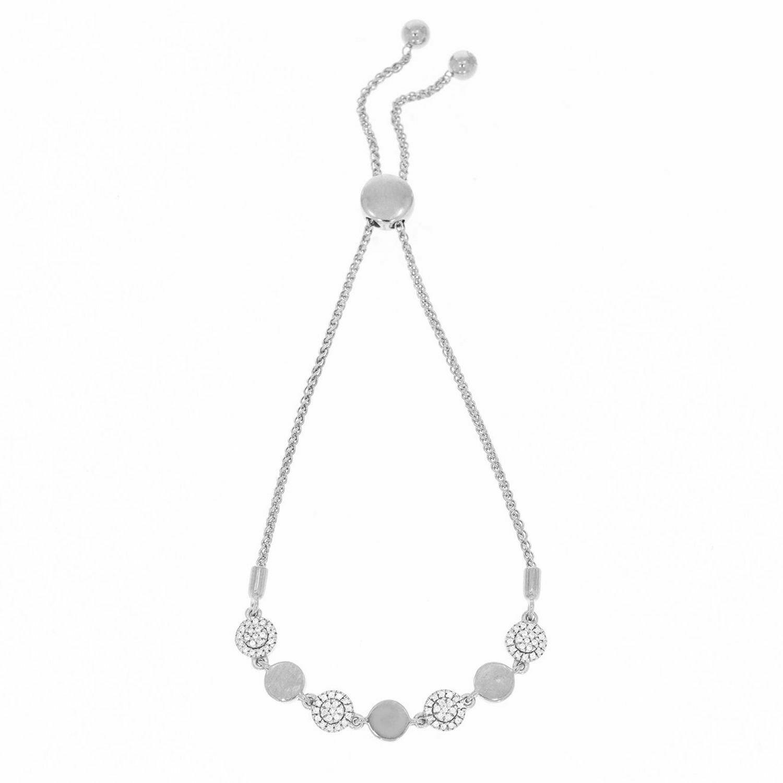 Ella Stein You Make Me Whole Bolo Bracelet (Silver)
