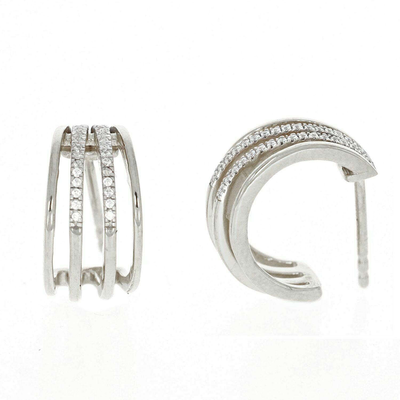 Ella Stein Wrap Around Hug Earrings (Silver)
