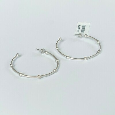 Ella Stein Evelyn Medium Hoop Earrings (Silver)