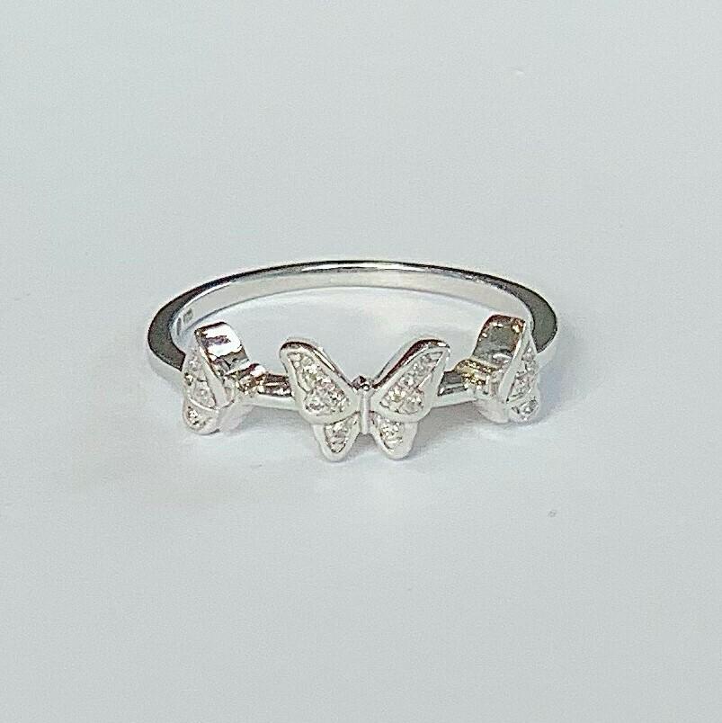Ella Stein Butterfly Trio Ring (Silver)