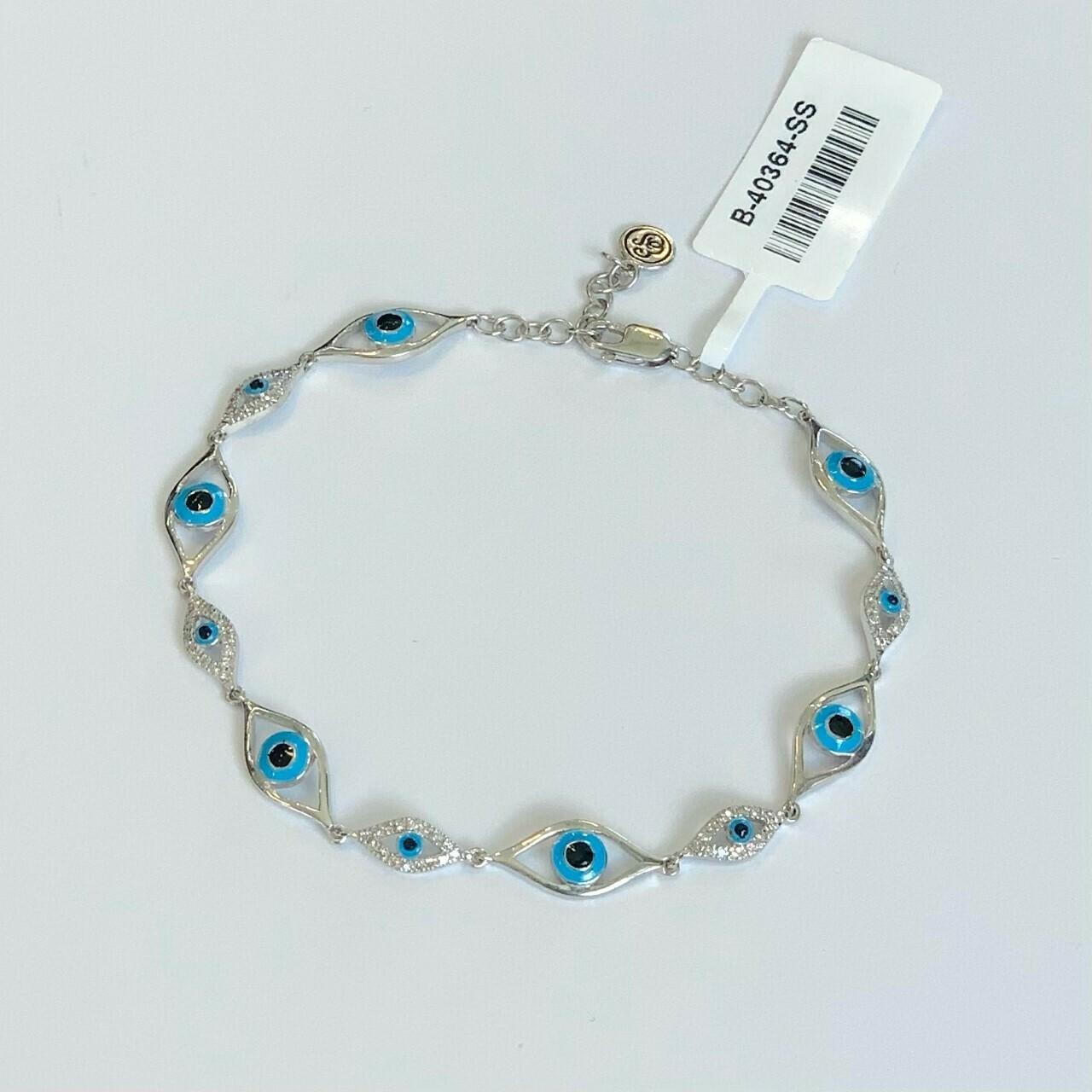 Ella Stein Eye of Protection Bracelet (Silver)
