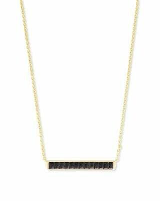Kendra Scott Jack Gold Short Pendant Necklace in Black Spinel