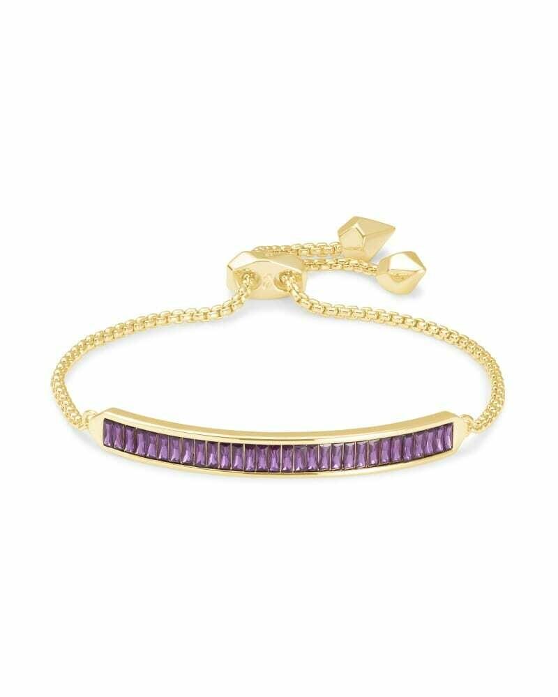 Kendra Scott Jack Gold Chain Bracelet in Purple Crystal