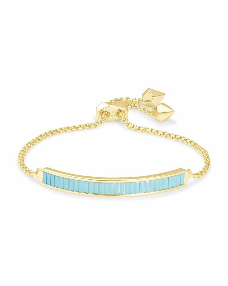 Kendra Scott Jack Gold Chain Bracelet in Turquoise Crystal