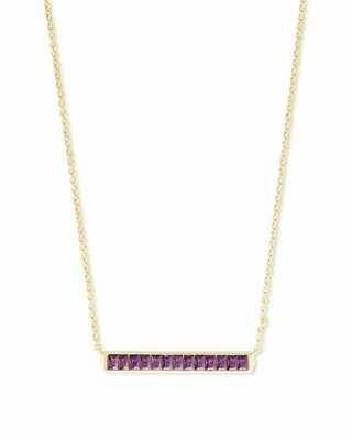 Kendra Scott Jack Gold Short Pendant Necklace in Purple Crystal