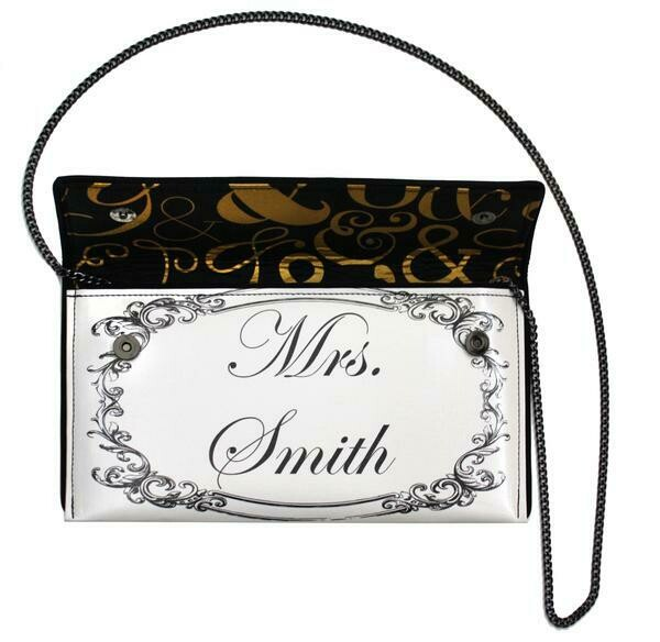 Kent Stetson Customized Mrs. Bag with Crystals