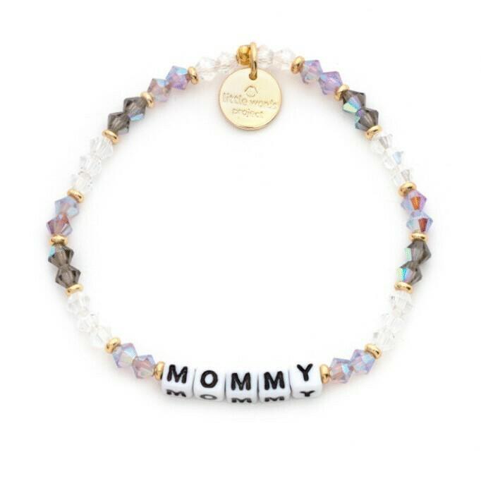 Little Words Project White MOMMY Bracelet