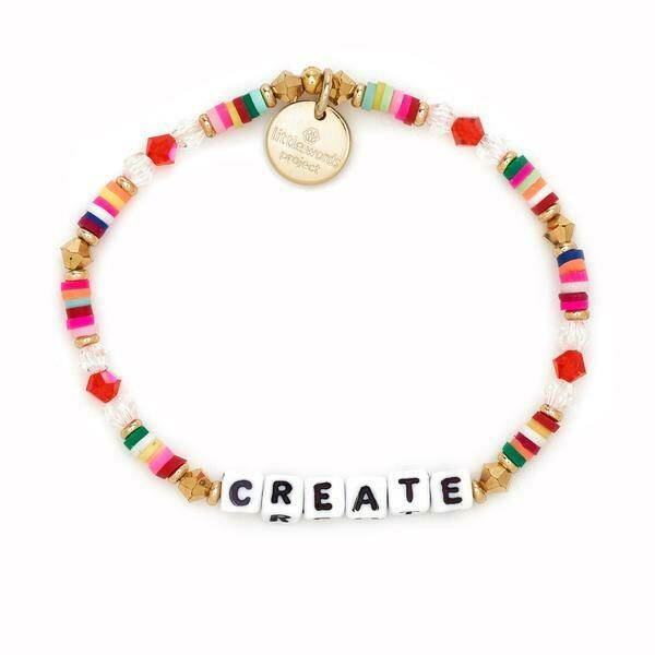 Little Words Project White CREATE Bracelet