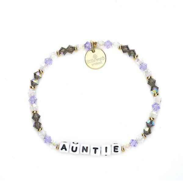 Little Words Project White AUNTIE Bracelet