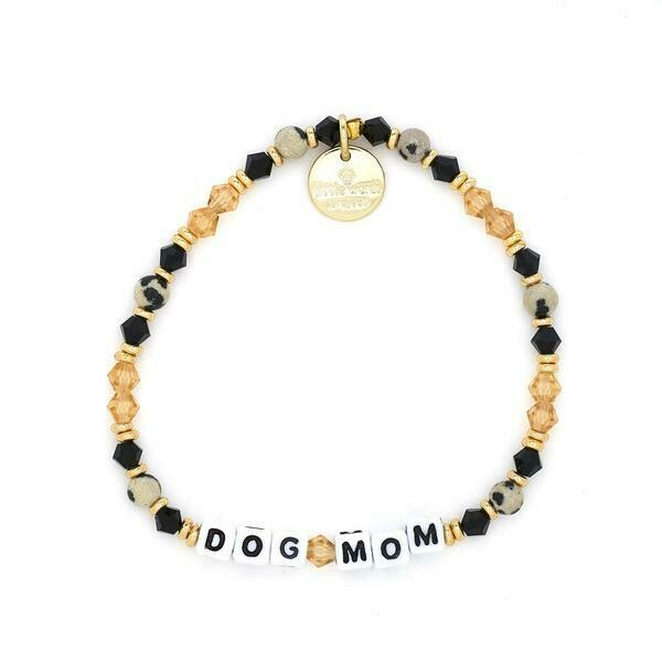 Little Words Project White DOG MOM Braclelet