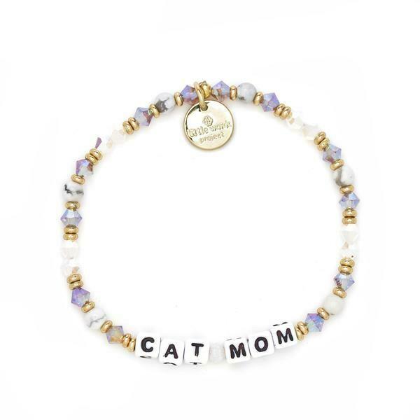 Little Words Project White CAT MOM Bracelet